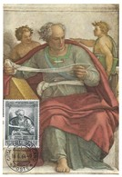 Profeta Joel-Michelangelo-Roma, 16.6. 1964, L150 (2scans) - Cartes-Maximum (CM)