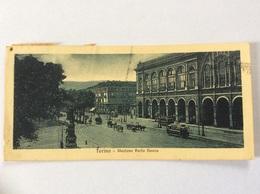 TORINO - Stazione Porta Nuova, Carrozze, Tram - Minicartolina V 1926 - Stazione Porta Nuova