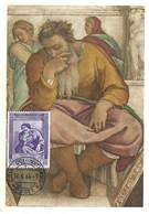 Profeta Hieremias-Michelangelo, 16.6. 1964 (2scans) - Cartes-Maximum (CM)