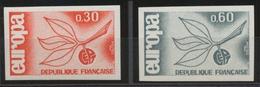 1965 France N°1455 + 1456 Europa Non Dentelés Neufs Luxe** COTE 140€ D1590 - No Dentado
