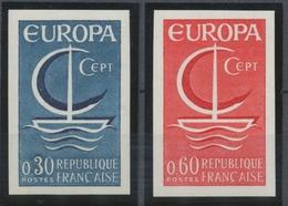 1966 France N°1490 + 1491 Europa Non Dentelés Neufs Luxe** COTE 140€ D1612 - No Dentado