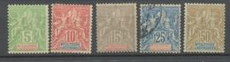 Colonies Françaises Nlle CALEDONIE N°59 à 64 Sf N°63 N*/Obl Cote 115 € N2607 - Unused Stamps