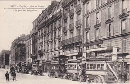 PARIS - Rue De Rome - Le Stationnement Des Omnibus-automobiles à La Gare Des Batignolles - Parfait état - Nahverkehr, Oberirdisch
