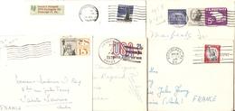 Etats-Unis - Petit Lot De 5 Lettres Airmail Vers France - Chicago - Pittsburgh - Hinsdale - Lots & Kiloware (mixtures) - Max. 999 Stamps