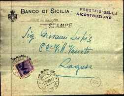 87704) Lettera Tariffa Stampe Con 50c.democratica Da Ragusa Per Città Il 6/11/1946 - 6. 1946-.. Republik