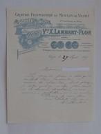 VEZET (70): Lettre à En-tête 1909 Fromagerie Du Moulin De Vezet - 1ère Laiterie De Brie En Franche-Comté - 1900 – 1949