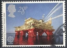 "Gran Bretagna - 1983 Europa, 28p ""Iolair"" Emergency Oil Support # S.G. 1217 - Michel 955 - Scott 1021 USED - Oblitérés"