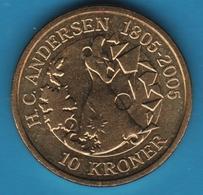DANMARK 10 Kroner 2006 H.C.ANDERSEN 1805-2005 Snow Queen KM# 914 MARGRETHE II - Denemarken