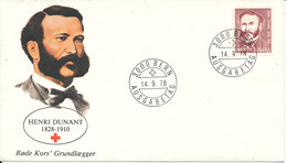 Switzerland FDC 14-9-1978 Henri Dunant Founder Of RED CROSS With Cachet - Croix-Rouge