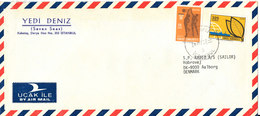 Turkey Air Mail Cover Sent To Denmark Istanbul 24-8-1978 - 1921-... Republic