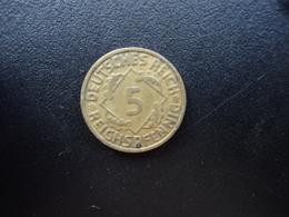 ALLEMAGNE : 5 REICHSPFENNIG  1935 G   KM 39    TTB - 5 Reichspfennig