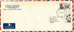 Turkey Air Mail Cover Sent To Denmark Karaköy 22-11-1980 - 1921-... Republic