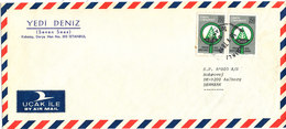Turkey Air Mail Cover Sent To Denmark Istanbul 18-5-1978 - 1921-... Republic