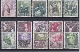 1463/77 SERIE COMPLETA DE 15 SELLOS DEL MISTERIO DEL SANTO ROSARIO NUEVOS ** - 1931-Hoy: 2ª República - ... Juan Carlos I
