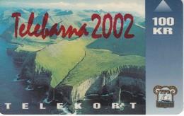 TARJETA DE LAS FEROE DE 100KR DE TELEBARNA 2002 (RAREZA) - Faroe Islands
