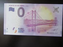 Zero [0] Euro  - Ponte 25 Abril [ Lisboa]  - 2018  PORTUGAL SOUVENIR - EURO