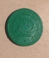 TOKEN JETON GETTONE COOPERATIVE SOCIETY LIMITED ARSENAL ROYAL 2 £ - Notgeld
