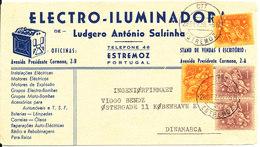Portugal Cover Sent To Denmark Estremoz 28-12-1955 - 1910-... Republic
