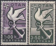 PORTUGAL 1960 Nº 859/60 USADO - 1910-... République