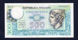 Repubblica Italiana - Lire 500 14/2/1974 (SPL) - [ 2] 1946-… : Républic