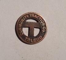 TOKEN JETON GETTONE TRASPORTO TRANSIT COMMUNITY TRACTION TOLEDO - Monétaires/De Nécessité