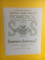 8173 -  Château Franc-Maillet 1953 Pomerol - Bordeaux