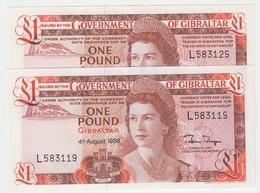 Gibraltar Banknote (Pick 20e)  One Pound BROKEN 9 ERROR Superb UNC Condition - Gibraltar