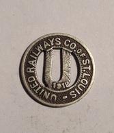 TOKEN JETON GETTONE TRASPORTO TRANSIT UNITED RAILWAYS ST. LOUIS 1919 - Monétaires/De Nécessité