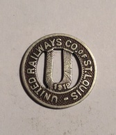 TOKEN JETON GETTONE TRASPORTO TRANSIT UNITED RAILWAYS ST. LOUIS 1919 - Monedas/ De Necesidad