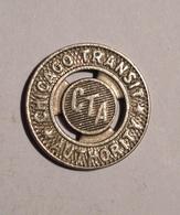 TOKEN JETON GETTONE TRASPORTO TRANSIT CHICAGO TRANSIT AUTHORITY C.T.A. - Monetary/Of Necessity