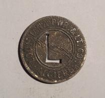 TOKEN JETON GETTONE TRASPORTO TRANSIT LOUISIANA ALGIERS ZINCO - Monétaires/De Nécessité