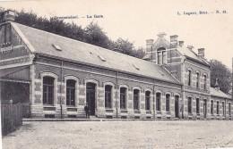 Groenendael La Gare Circulée En 1908 - Hoeilaart