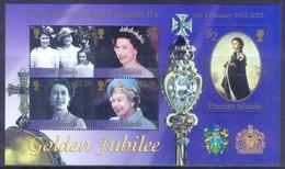 E89- Pitcairn Island 2002 Queen Elizabeth II Golden Jubilee. - Royalties, Royals