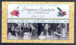 E91- Liberia 2015. The Birth Of Her Royal Highness Princess Charlotte. - Royalties, Royals
