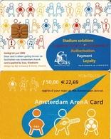 TARJETA FUNCIONAL DE AMSTERDAM ARENA CARD DE HOLANDA (CHIP) MUSICA. (189) - Otras Colecciones