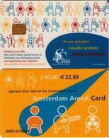 TARJETA FUNCIONAL DE AMSTERDAM ARENA CARD DE HOLANDA (CHIP), MUSICA. (190) - Otras Colecciones