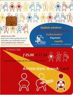 TARJETA FUNCIONAL DE AMSTERDAM ARENA CARD DE HOLANDA (CHIP). MUSICA. (193) - Otros