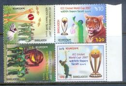 E107- Bangladesh 2007 ICC Cricket World Cup West Indies Tiger Sport. - Bangladesh