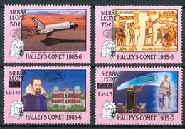 1986 Sierra Leone Cometa Halley Overprinted MNH** Ye73 - Sierra Leone (1961-...)