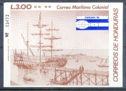 E113- Honduras 1988 Film Exhibition Exfilhon-88. Ship. Boat. - Ships