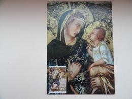 CARTE MAXIMUM CARD LA VIERGE ET L'ENFANT PAR PIETRO LORENZETTI AITUTAKI - Madonna