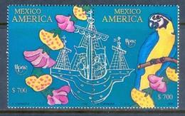 E117- Mexico 1990 Columbus Sailing Series Birds And Flowers - Birds