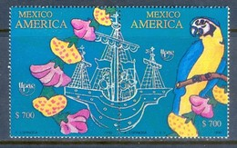 E117- Mexico 1990 Columbus Sailing Series Birds And Flowers - Altri