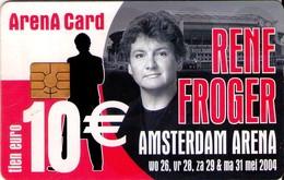 TARJETA FUNCIONAL DE AMSTERDAM ARENA CARD DE HOLANDA (CHIP). MUSICA, RENE FROGER - A056.02 (158) - Otros