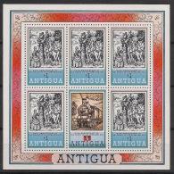 Antigua - 1979 - N°Yv. 538a - Rowland Hill - Feuillet De 5 Timbres  - Neuf Luxe ** / MNH / Postfrisch - Antigua Et Barbuda (1981-...)