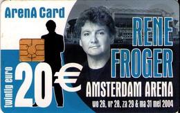 TARJETA FUNCIONAL DE AMSTERDAM ARENA CARD DE HOLANDA (CHIP). TIRADA 15000 - MUSICA, RENE FROGER - A056.03 (159) - Otras Colecciones