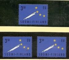 1995 Finlandia Suomi Finland UNIONE EUROPA  EUROPEAN UNION 3 Serie (1254) MNH** - Finlandia