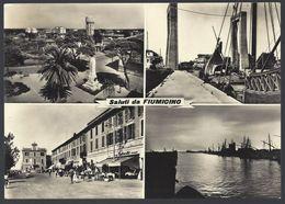 Saluti Da Fiumicino (Roma) - Vedutine - Viaggiata 1956, FG - Fiumicino