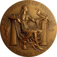 ESPAÑA. MEDALLA F.N.M.T. IV CONGRESO AGENTES Y CORREDORES DE SEGUROS. 1.988. ESPAGNE. SPAIN MEDAL - Profesionales/De Sociedad
