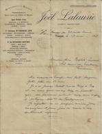 BOUSSAC PAR PORT SAINTE MARIE JOEL LALAURIE AGENT MARITIME LIGNES DELMAS DE TANGER AU PORT DU MAROC ANNEE 1918 - France